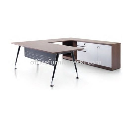 HANAKO EXECUTIVE DIRECTOR OFFICE TABLE C/W SIDE CABINET - Top 10 Best Recommended Director Office Table   Director Office Table Sri Petaling   Director Office Table Seri Kembangan   Director Office Table Gombak
