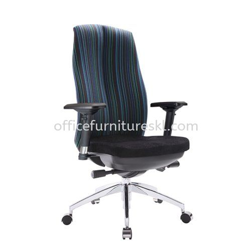 LINEAR EXECUTIVE HIGH BACK FABRIC CHAIR WITH ALUMINIUM ROCKET DIE-CAST BASE ACL 6116