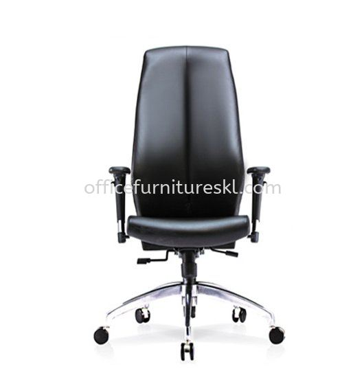 SENSE 2 EXECUTIVE HIGH BACK LEATHER CHAIR WITH ALUMINIUM ROCKET DIE-CAST BASE HB-C 03
