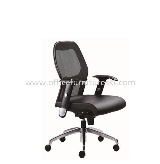 TECH LOW BACK ERGONOMIC MESH CHAIR C/W ALUMINIUM BASE TC2