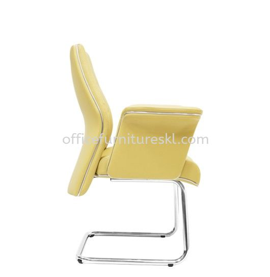 WIGAN DIRECTOR VISITOR LEATHER OFFICE CHAIR C/W CHROME CANTILEVER BASE