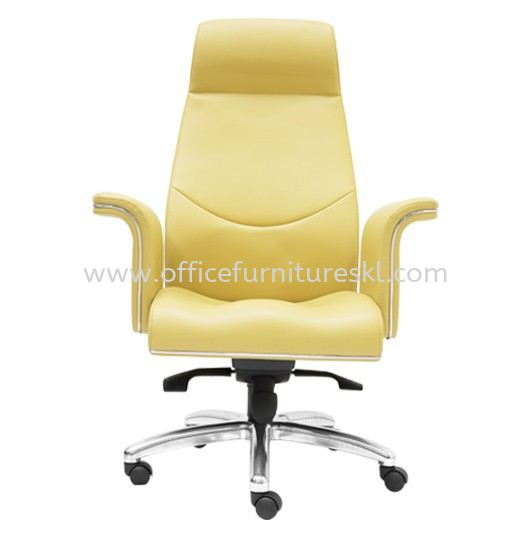 WIGAN DIRECTOR LEATHER OFFICE CHAIR HIGH BACK CHAIR-director office chair bangsar | director office chair seputeh | director office chair cheras