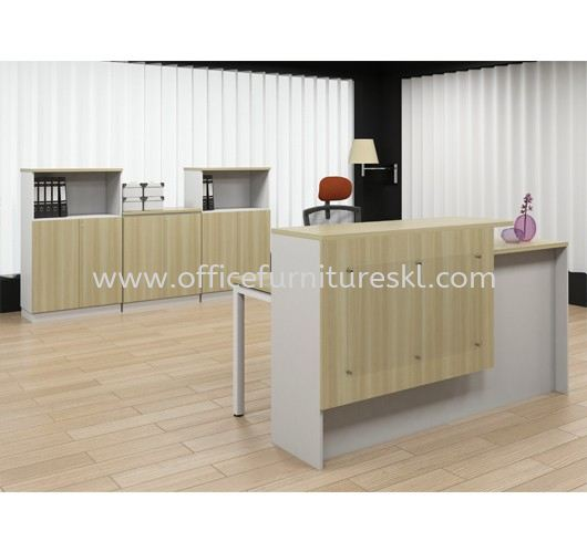 MUPHI RECEPTION COUNTER OFFICE TABLE - top 10 best reception counter office table | reception counter office table segambut | reception counter office table ampang | reception counter office table puchong