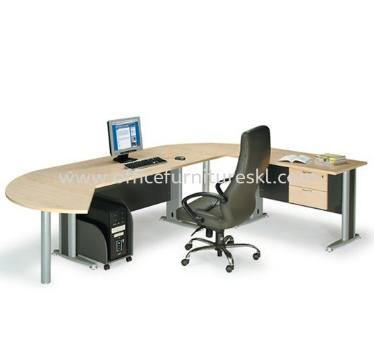 TITUS WRITING OFFICE TABLE & SIDE OFFICE TABLE & SIDE DISCUSSION TABLE ATT 158 MANAGER SET - Office Furniture Mall Writing Office Table | Writing Office Table Shah Alam Premier Industrial Park | Writing Office Table Taman Perindustrian Subang | Writing Office Table Sungai Besi