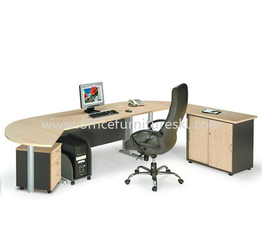 TITUS WRITING OFFICE TABLE & SIDE OFFICE CABINET & SIDE DISCUSSION TABLE & MOBILE PEDESTAL 3D ATT 158 MANAGER TABLE SET - Office Furniture Shop Writing Office Table | Writing Office Table Puchong | Writing Office Table Bandar Puchong Jaya | Writing Office Table Bukit Jalil