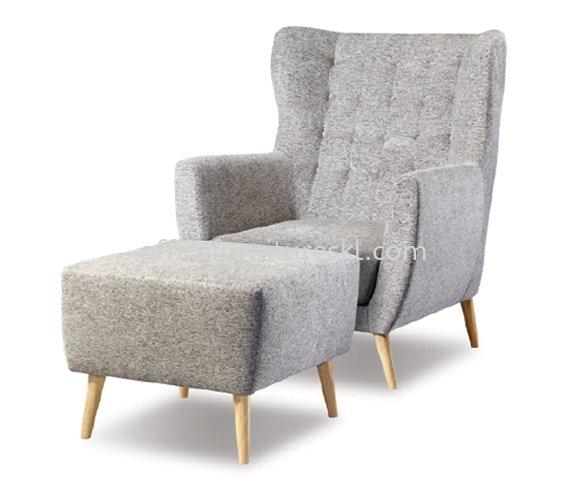 BURANO SINGLE SETTEE WIN SOFA C/W OFFICE STOOL - Top 10 Value Office Sofa | office sofa Tropicana | office sofa Mutiara Tropicana | office sofa Setapak