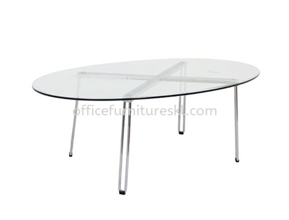 FURA COFFEE TABLE C/W TEMPERED GLASS TABLE TOP - Best Promotion Coffee Table   office sofa coffee table   office sofa coffee table   coffee table Setiawangsa