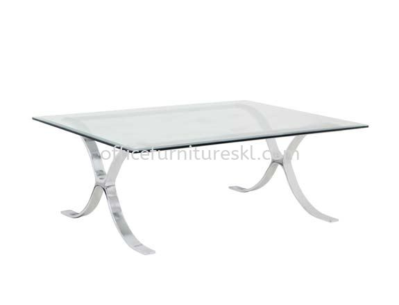 BARCELONA RECTANGULAR COFFEE TABLE C/W TEMPERED GLASS TABLE TOP - Top 10 Best Design Coffee Table | coffee table Taman Bandaraya | coffee table Damansara Height | coffee table Bangsar Baru
