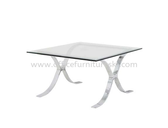 BARCELONA SQUARE COFFEE TABLE C/W TEMPERED GLASS TABLE TOP - Top 10 Best Comfortable Office sofa| coffee table Bangsar | coffee table Jalan Ipoh |  coffee table Bukit Kiara
