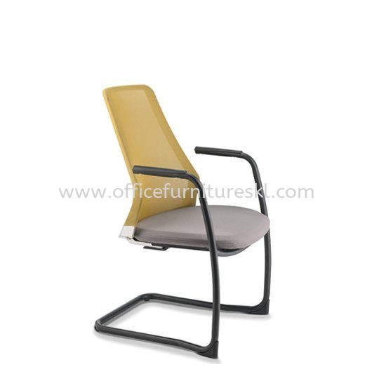PICO VISITOR ERGONOMIC MESH CHAIR WITH ARM AND EPOXY CANTILEVER BASE ASPC 8613N-89E