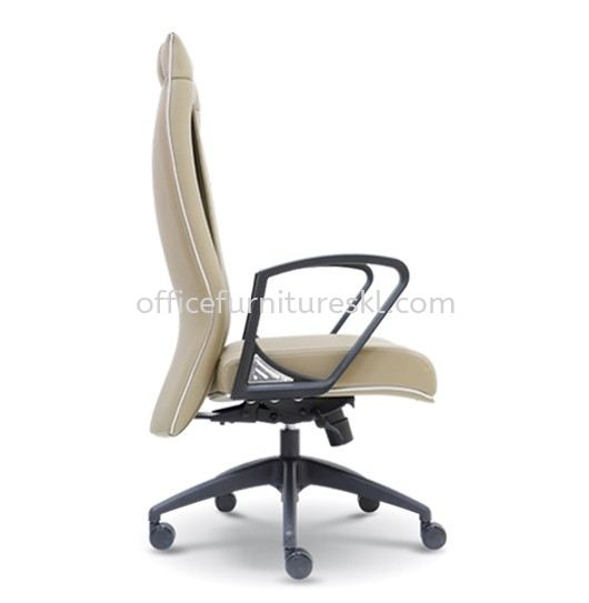 HARPERS EXECUTIVE HIGH BACK LEATHER CHAIR C/W ROCKET NYLON BASE
