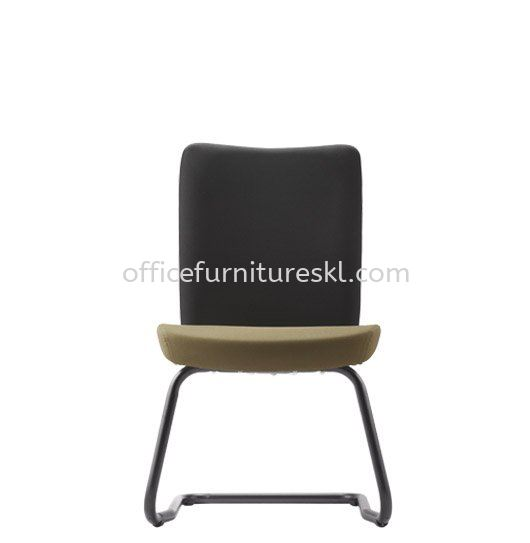 ERGO EXECUTIVE VISITOR FABRIC CHAIR W/O ARMREST WITH EPOXY BLACK CANTILEVER ER384F