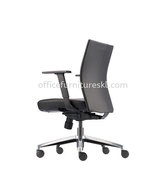 MESH ll EXECUTIVE LOW BACK LEATHER OFFICE CHAIR - 11.11 mega sale | executive office chair hicom glenmarie shah alam | executive office chair ttdi jaya | executive office chair jalan binjai