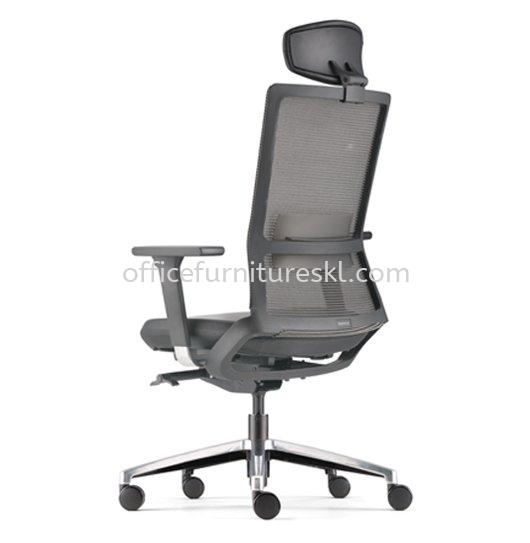 ROYSES HIGH BACK ERGONOMIC MESH OFFICE CHAIR WITH ALUMINIUM HIGH BASE AND ALUMINIUM ADJUSTABLE ARMREST -ergonomic mesh office chair ara damansara | ergonomic mesh office chair ikea cheras | ergonomic mesh office chair 11.11 crazy sale
