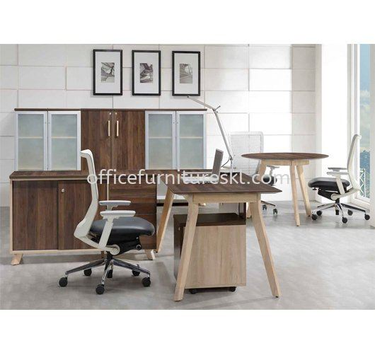PAXIS RECTANGULAR TABLE C/W SIDE CABINET 2 - Top 10 Most Popular Director Office Table | Director Office Table Selayang | Director Office Table Rawang | Director Office Table Kepong