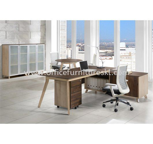 PAXIS EXECUTIVE DIRECTOR OFFICE TABLE C/W SIDE CABINET - Top 10 Best Office Furniture Product Director Office Table | Director Office Table Bandar Botanic | Director Office Table Bandar Bukit Raja | Director Office Table Bandar Bukit Tinggi