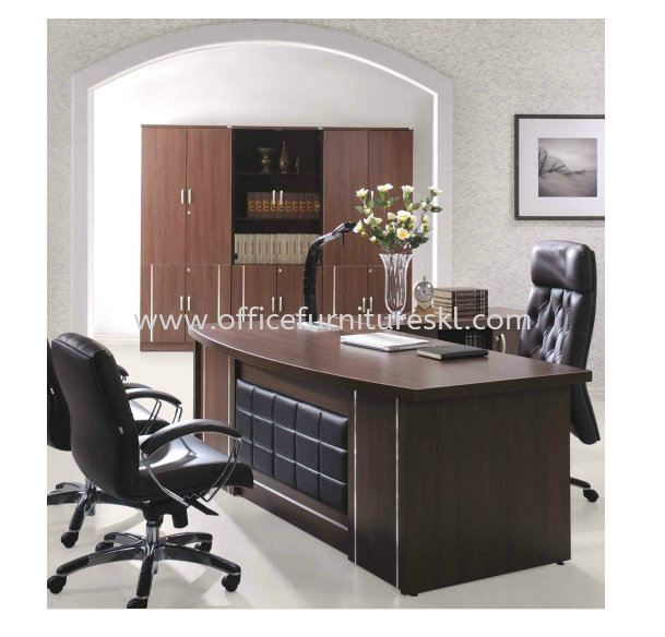 ZEBONI EXECUTIVE DIRECTOR OFFICE TABLE WITH SIDE OFFICE CABINET