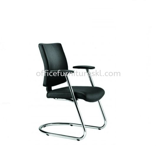 BRABUSS EXECUTIVE VISITOR LEATHER OFFICE CHAIR - office chair pudu plaza | office chair taman desa | office chair promotion