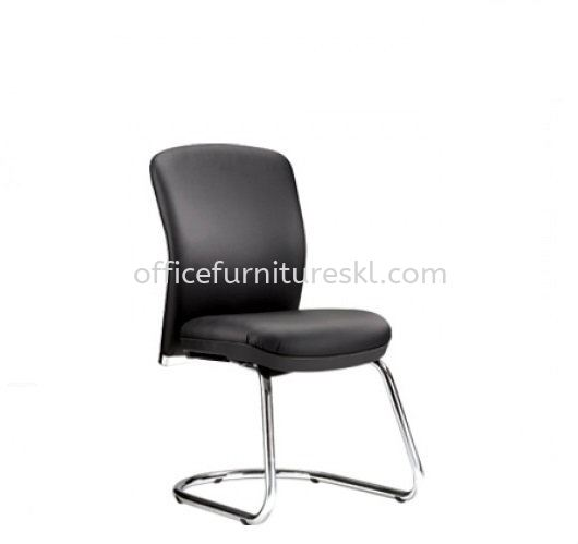 BRYON EXECUTIVE VISITOR LEATHER CHAIR W/O ARMREST WITH CHROME CANTILEVER BASE BY-5L