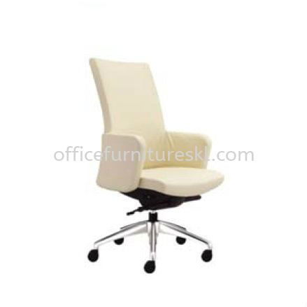 MORRIS EXECUTIVE HIGH BACK LEATHER CHAIR WITH ALUMINIUM DIE-CAST BASE MR 510L