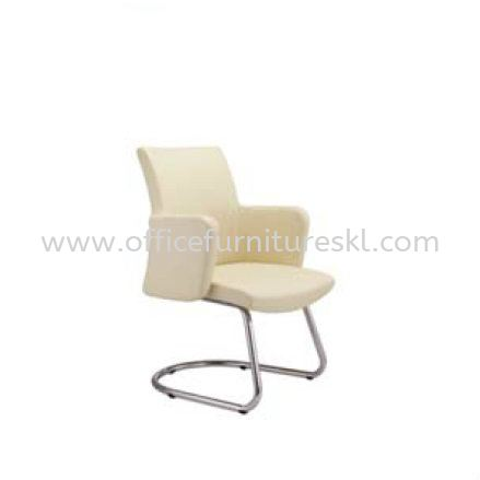 MORRIS EXECUTIVE VISITOR LEATHER CHAIR WITH CHROME CANTILEVER BASE MR 513L