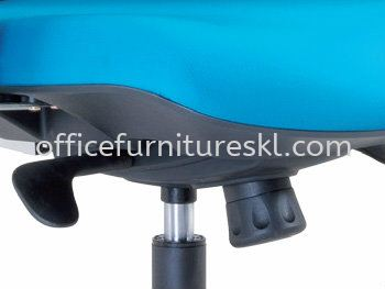 TALENT SPECIFICATION - THE UNIQUE IMPORTED KNEE-TILT SYNCHRONIZED ADJUSTBALE MECHANISM WITH LOCKING SYSTEM ASSURES MAXIMUM LUMBER SUPPORT SPINE
