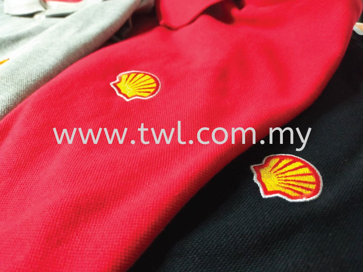Shell Logo Embroidery