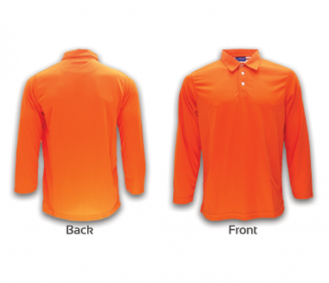 ATTOP COLLAR LONG SLEEVE ALS 600A ORANGE