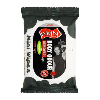 Wetty Body Odour Remover Mentol Mini Wipes 8 PCS