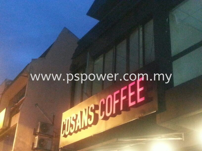 3D LED Signboard - COSANS COFFEE