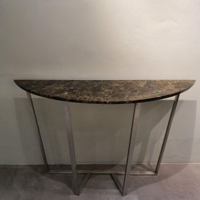 Marble Console Table - Dark Emperador