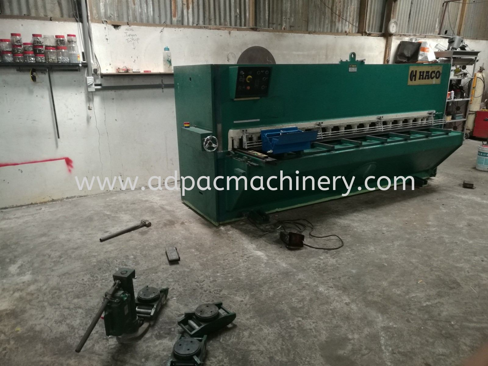 Installation of Used HACO Shearing Machine