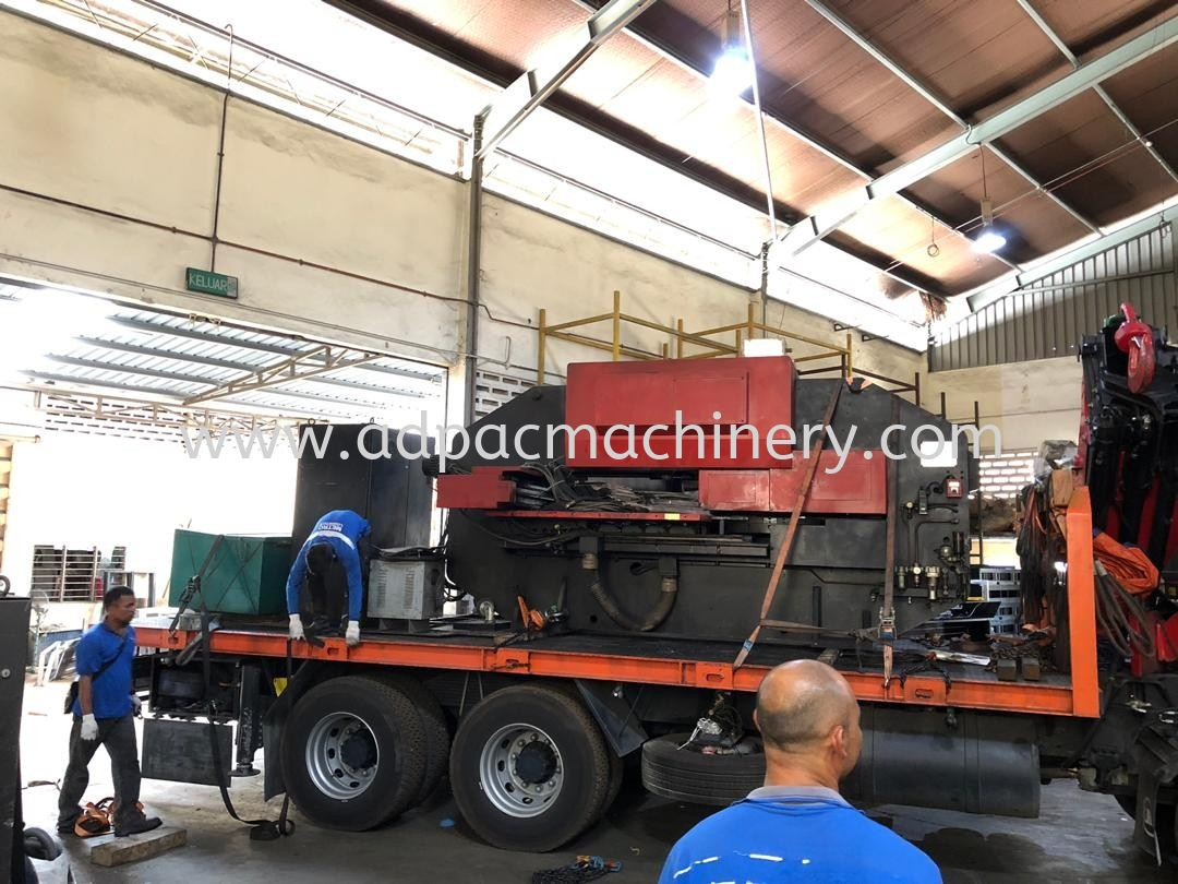 Moving Out Used Amada Turret Punch Machine