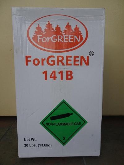 R141B X 30LBS (13.6KGS) FORGREEN HCFC REFRIGERANT GAS