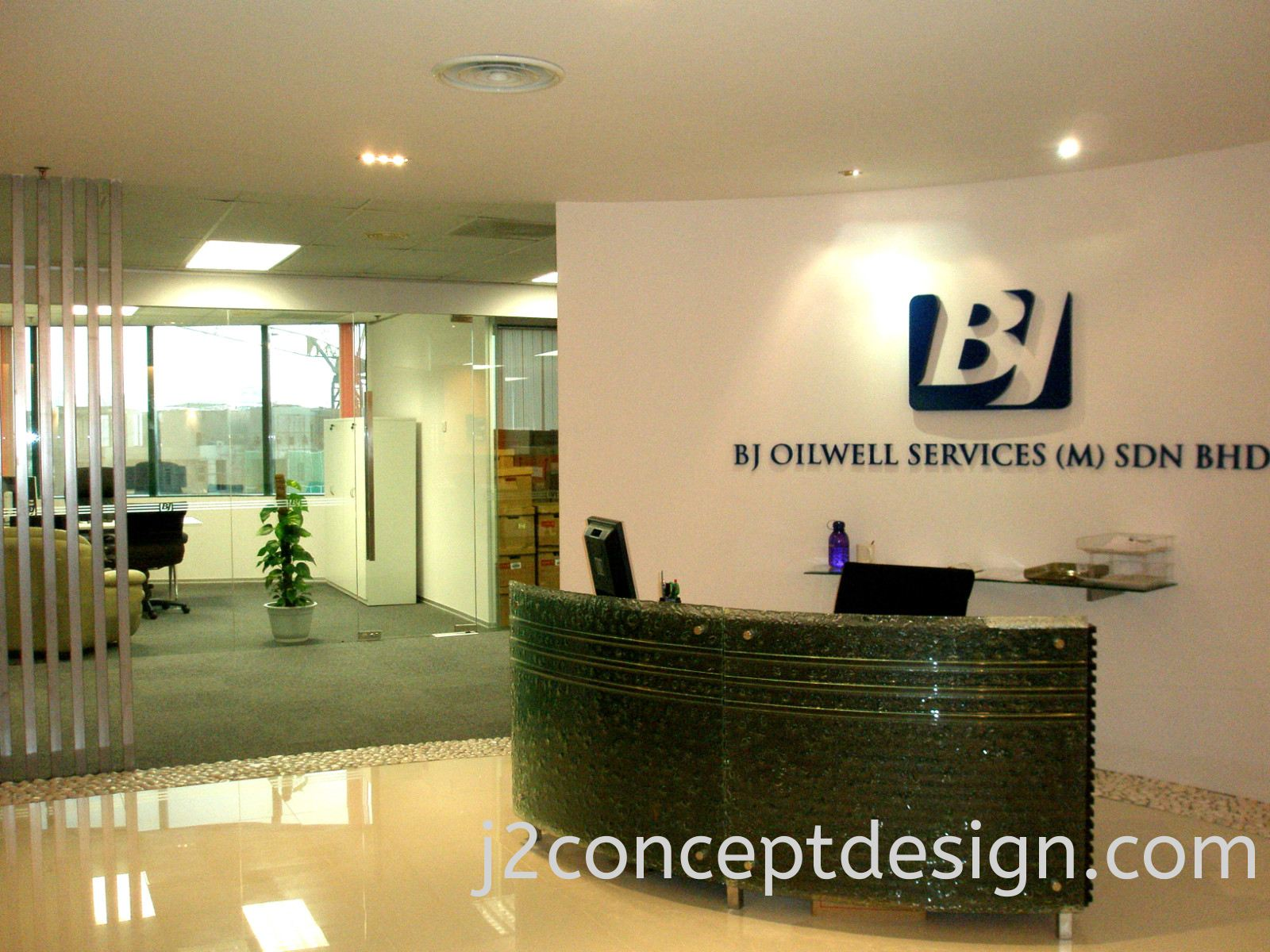 Interior Design & Office Design Malaysia @ Reception View 2