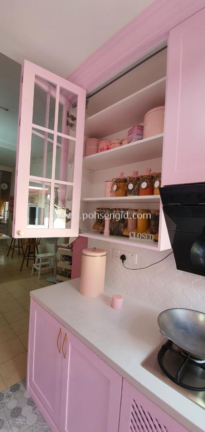 Nyatoh Spray Paint Kitchen Cabinet #TAMAN BELIDA