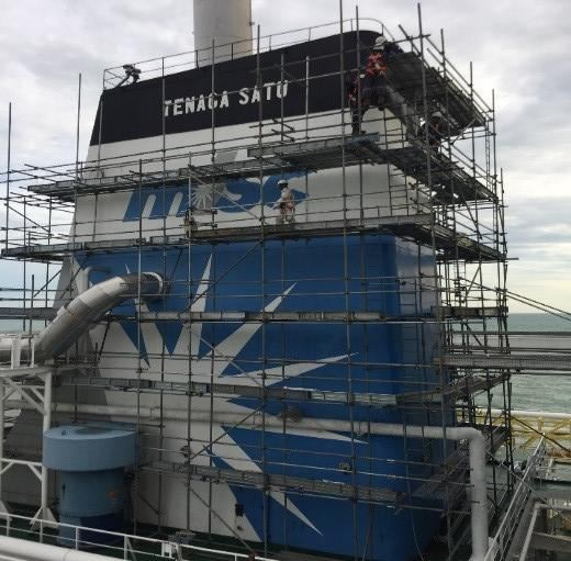 Painting And Renaming At Funnel Tower STAGING & SCAFFOLDING