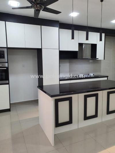 Solid Plywood Laminated Kitchen Cabinet #CENDERAWASIH