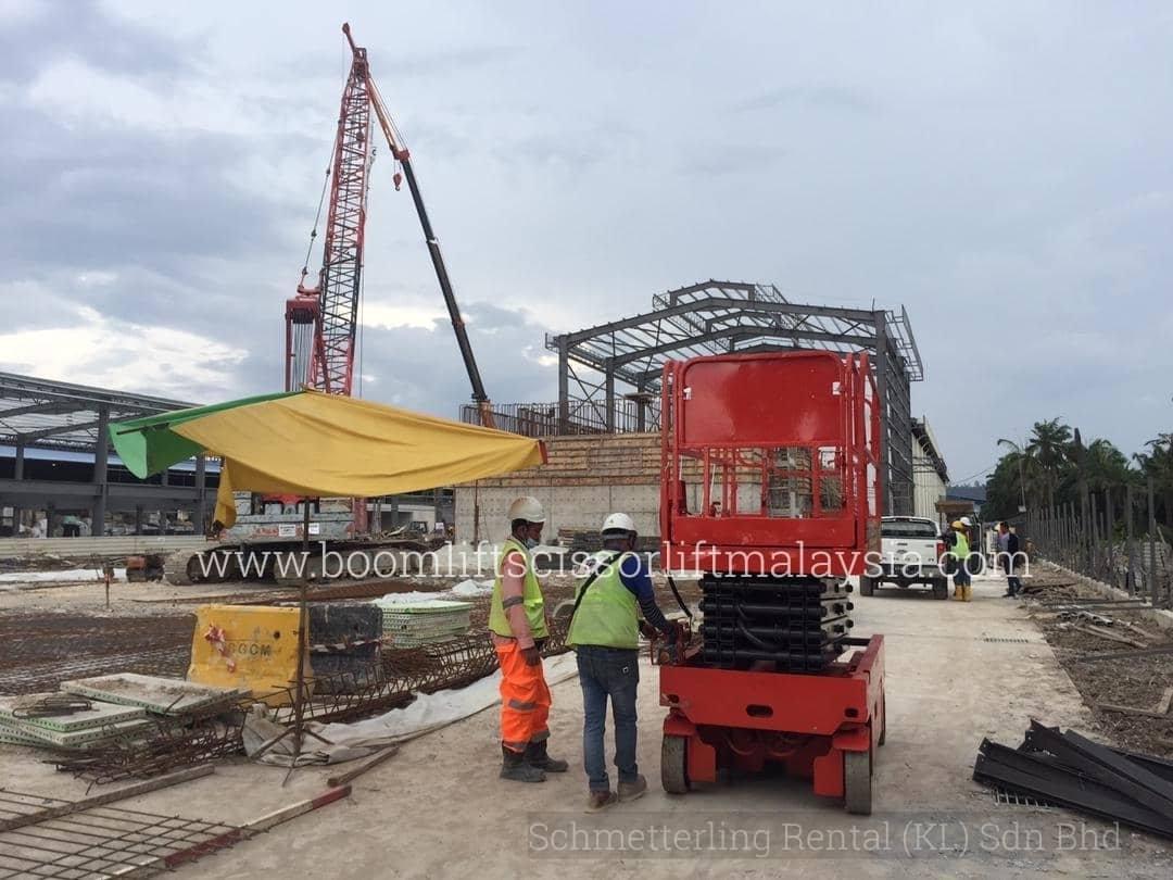 Sewa Scissor Lift for MRT Project In Selangor Malaysia www.boomliftscissorliftmalaysia.com