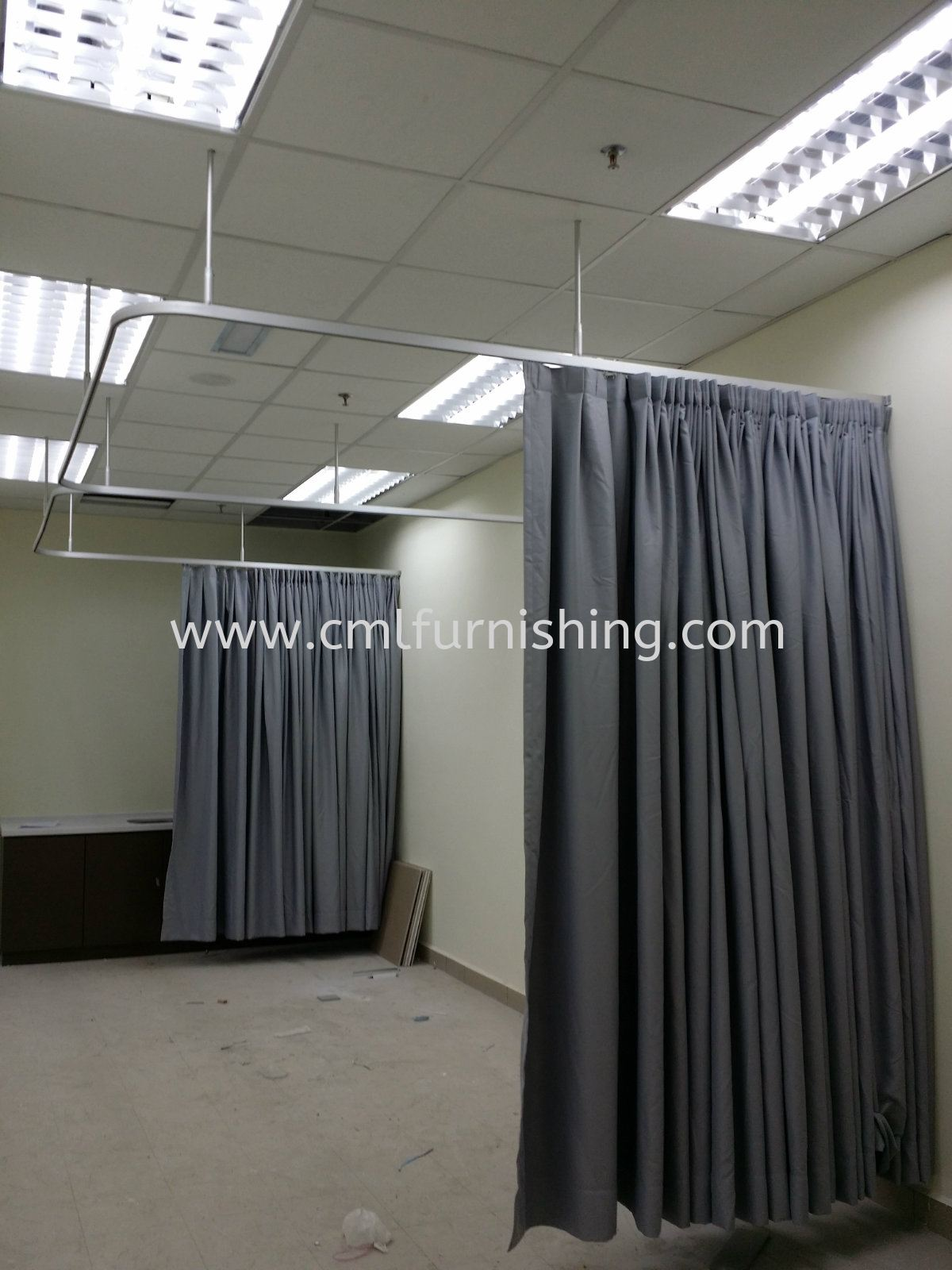 Cubicle Ceiling Mounted Curtain