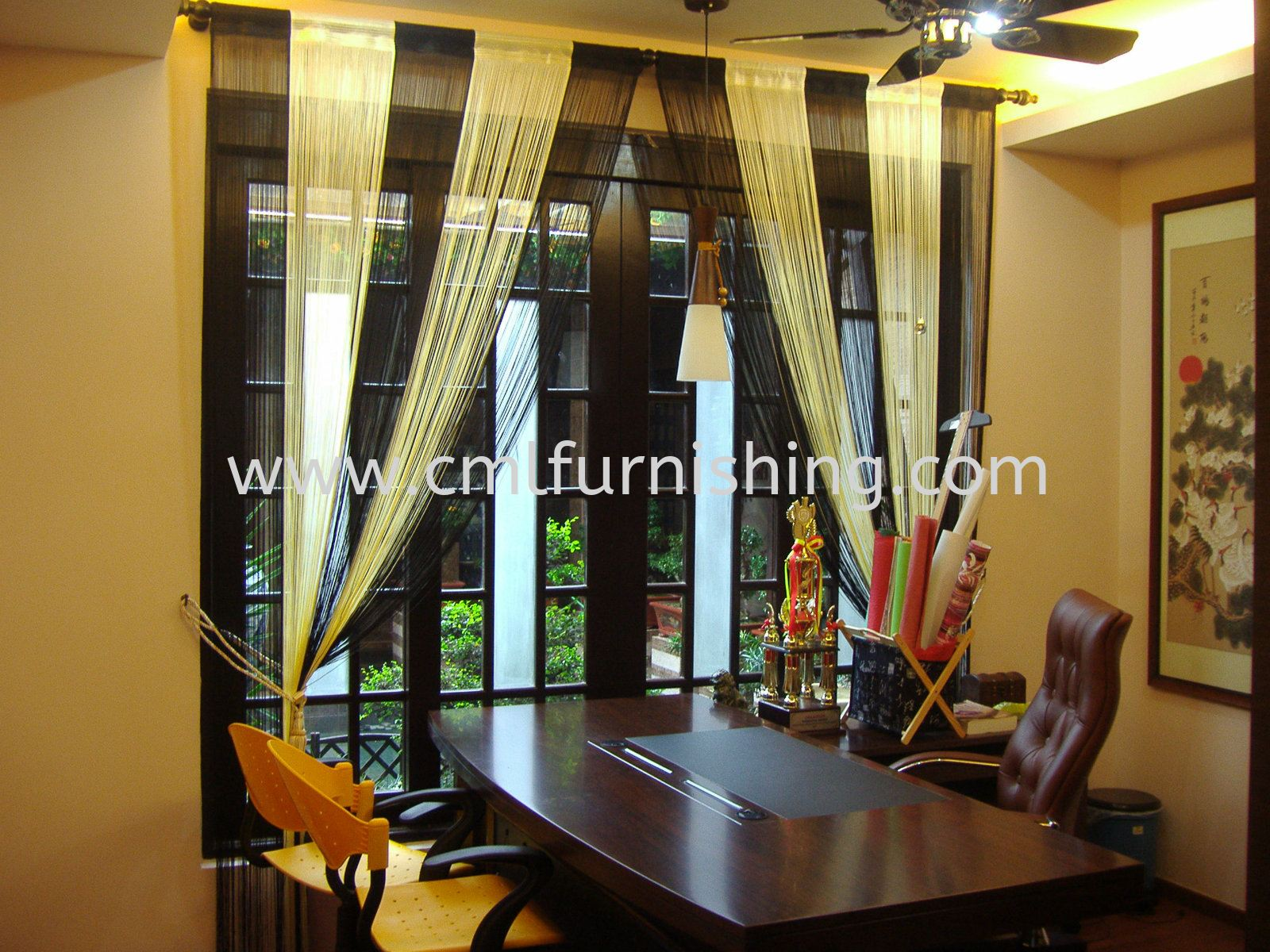 Sring Curtain , Roman , Sheer with Curtain