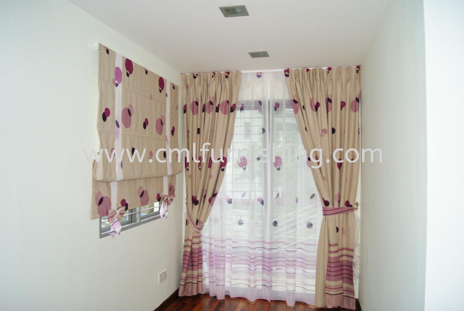 Roller Blinds , Zibra Blinds , Sheer with Curtain