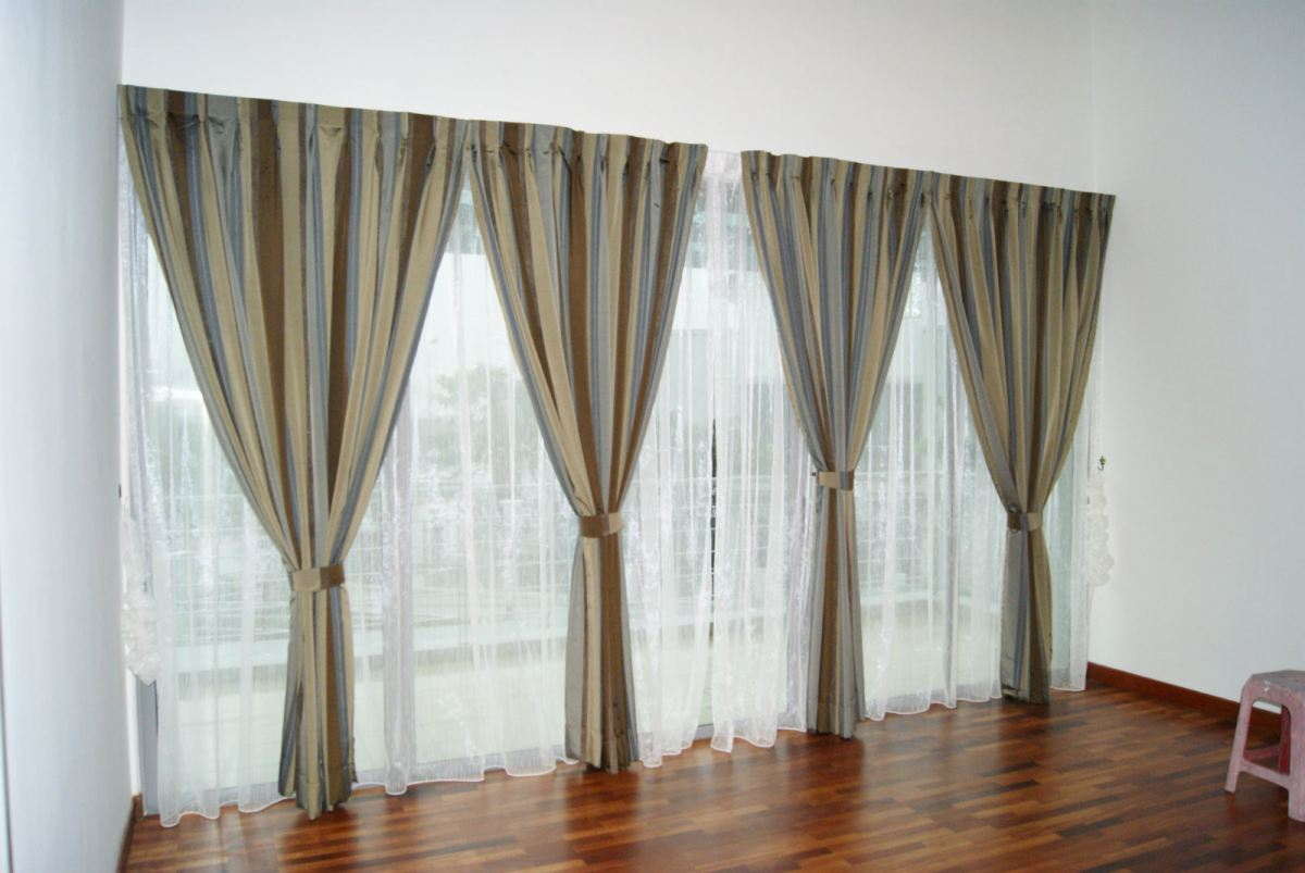 Roller Blinds , Zibra Blinds , Sheer with Curtain