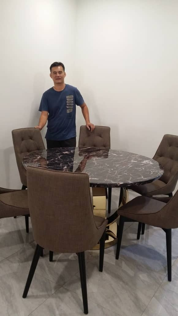 Luxury Round Dining Table | Marrone