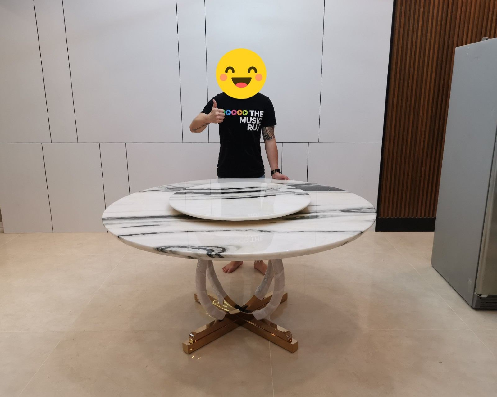Luxury Marble Table | Stain Free | Panda White