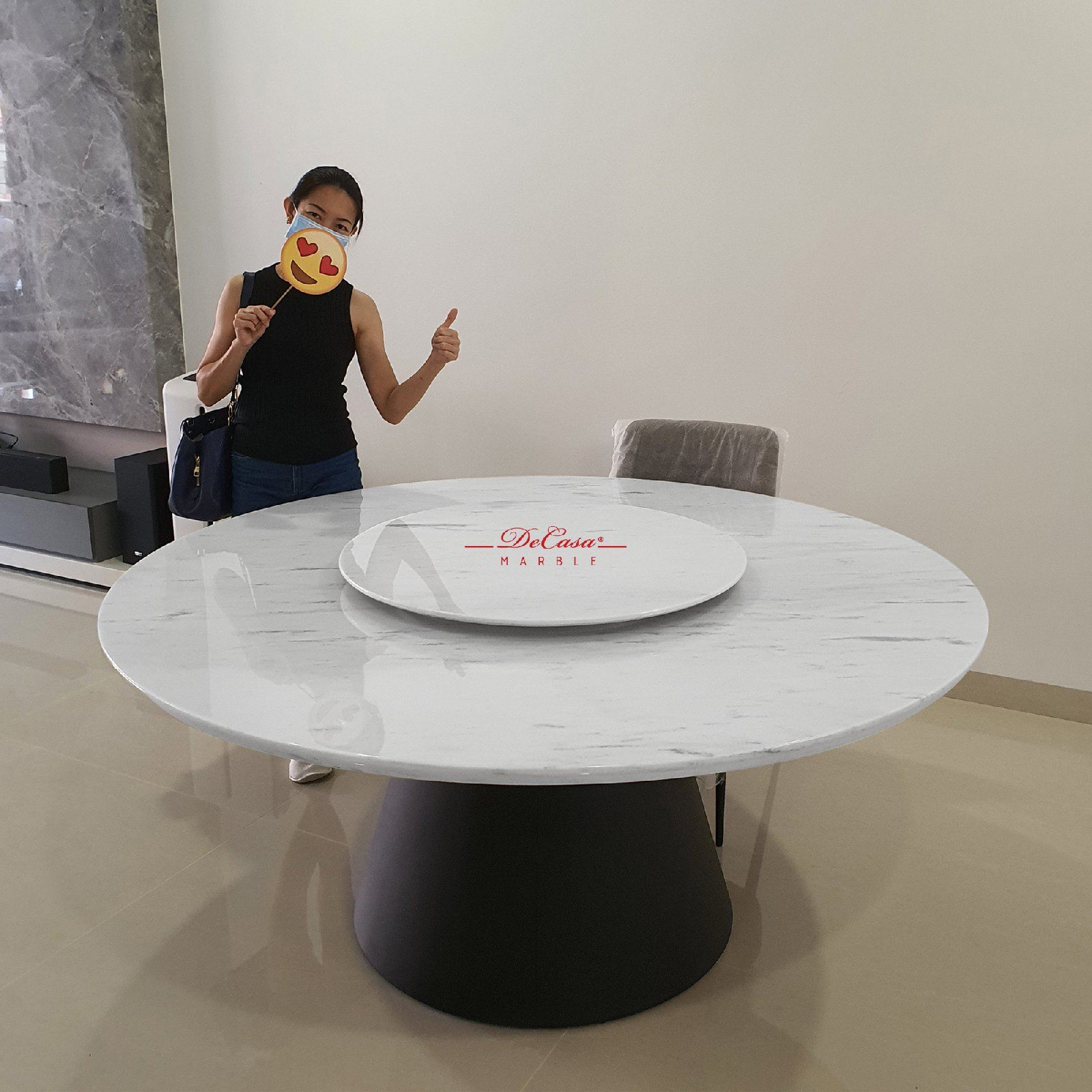 Modern White Marble Table | Sivec White | 10 Seaters
