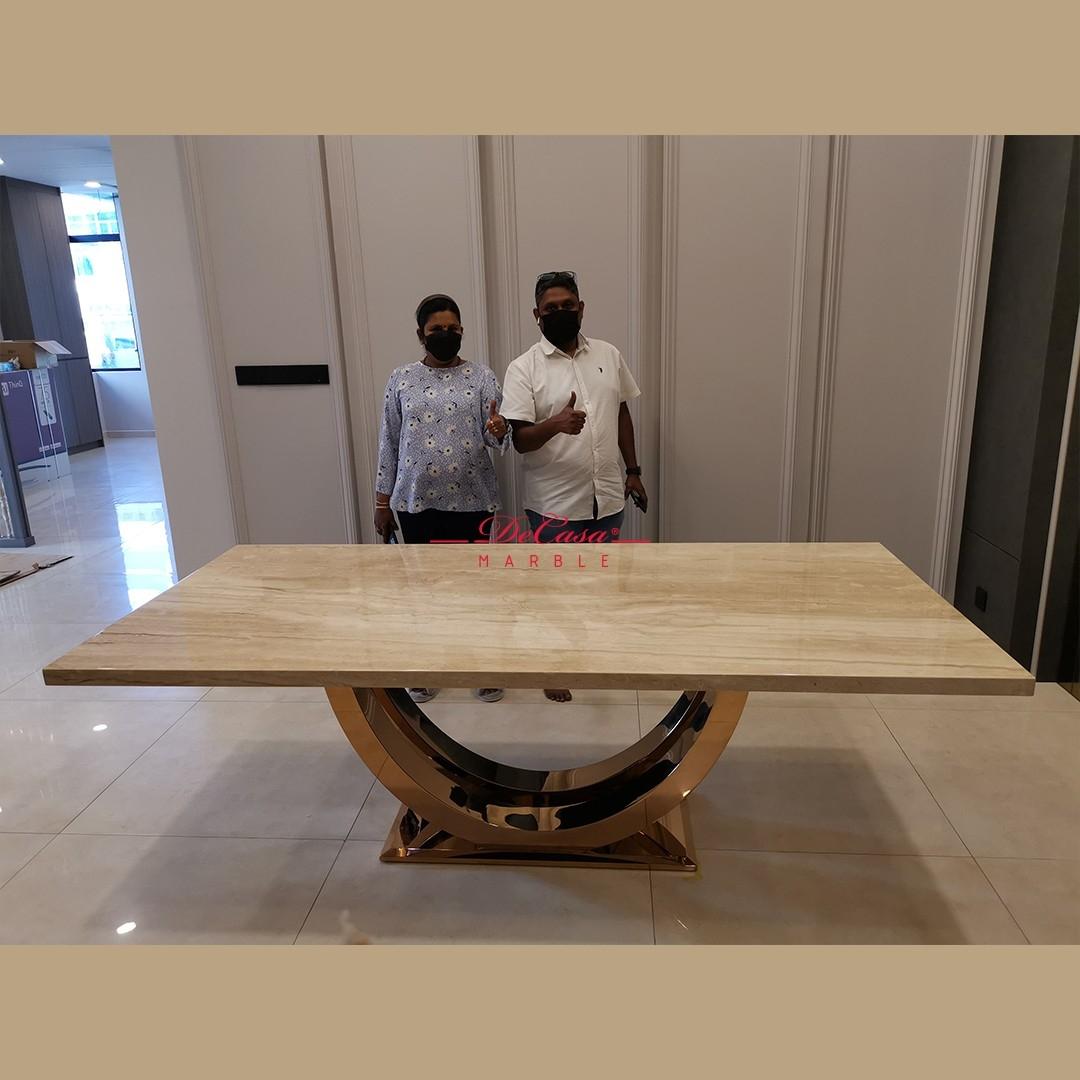 Italian Marble Dining Table   Nuvalato   8 Seaters