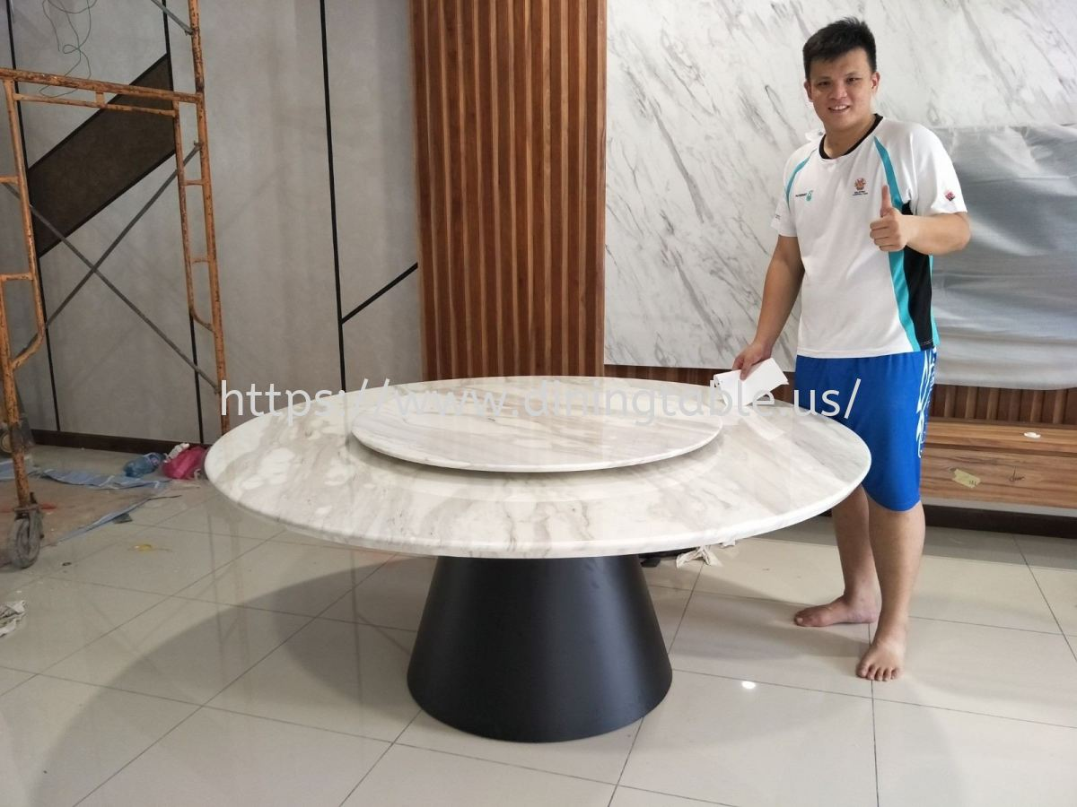 White Marble Dining Table - Volakas Marble