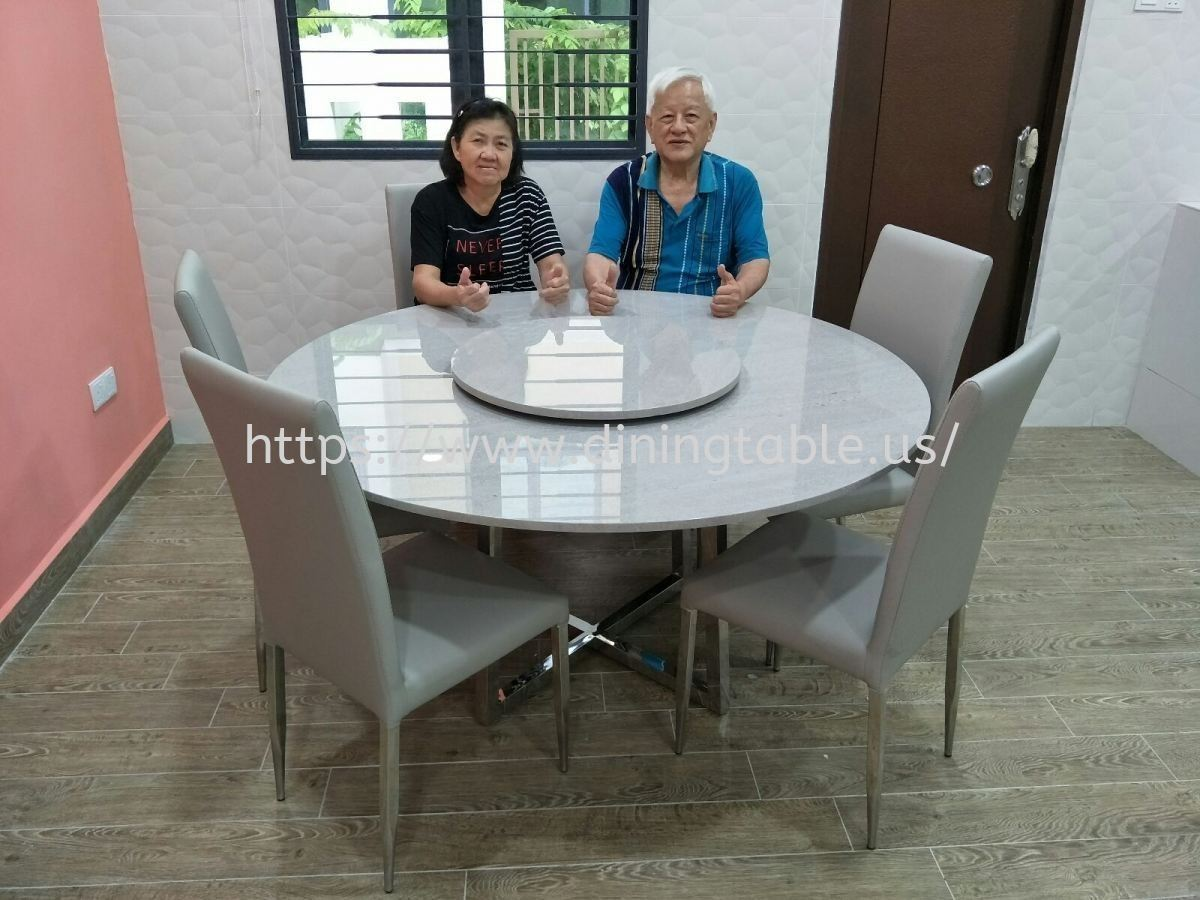 Grey Marble Dining Table - Cinderalla Marble