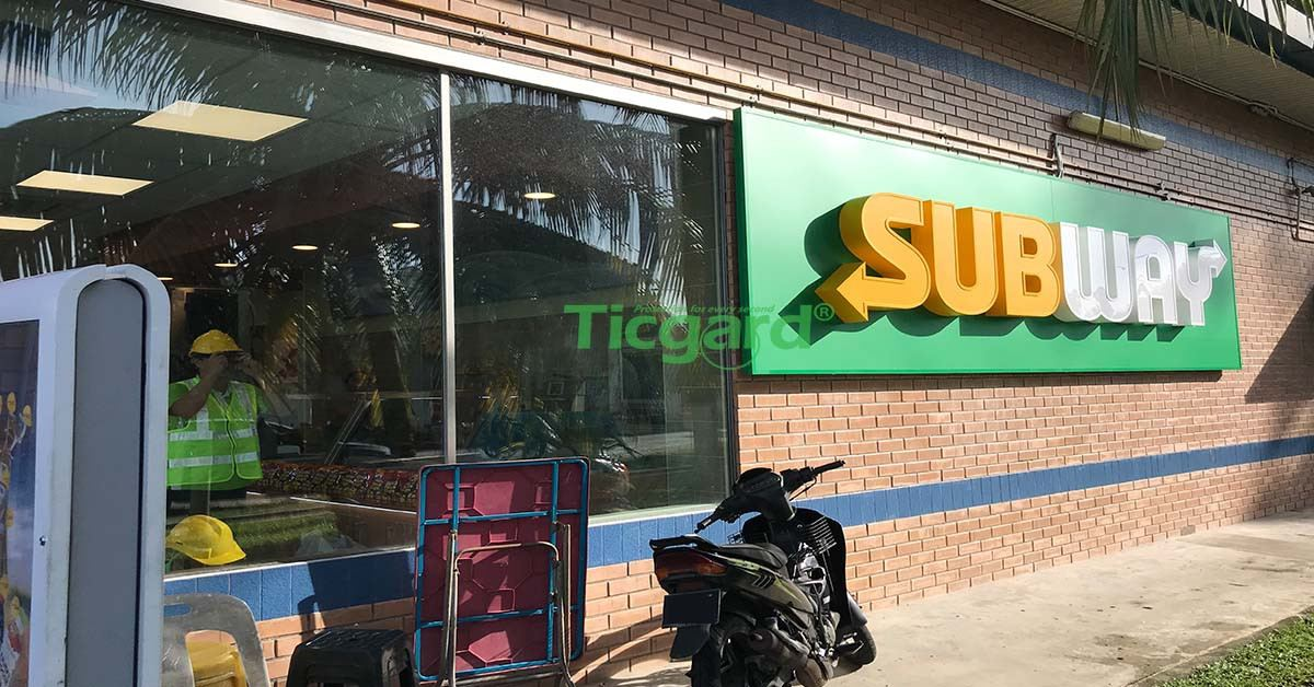 Commercial Building Projects Tint Installation #Subway Klang